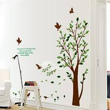 bedroom wall art stickers tree flower