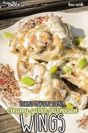 these electric pressure cooker creamy garlic parmesan wings are easy to make and low carb