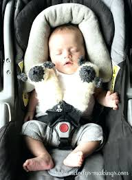 baby car seat belt covers infant strap 8 months old lamb free crochet and knit patterns from pads