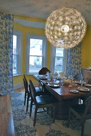 Beautiful Blue Willow Dishes In Dining Room Eclectic With Rugs Next To Curtains Alongside Blue And And Yellow