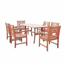 room and board outdoor furniture unique malibu 7pc rectangle hardwood outdoor eco friendly patio dining set