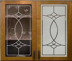 image of easy frosted glass cabinet doors