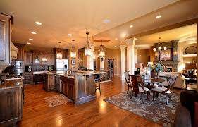 image of interior contemporary open floor plan house designs