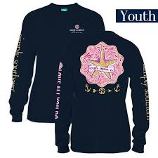 Simply Southern Size Chart Youth Details About Youth Wish Upon A Star Long Sleeve Simply Southern Tee Shirt