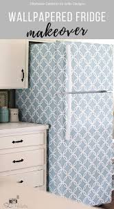 how to wallpaper furniture. I Absolutely Love How She Has Transformed The Look Of Her Fridge Using Peel And Stick Wallpaper. Its Reversible (renter Friendly) A Great Way To Cover Wallpaper Furniture S