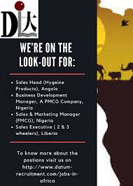 Datum Recruitment Services Is Hiring For Sales And Marketing