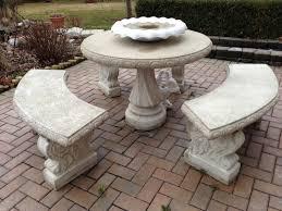 prepossessing stone patio table design ideas a garden interior concrete patio table set unique stone patio benches home design