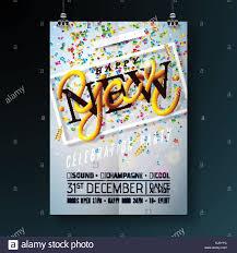 celebration flyer template. Happy New Year Party Celebration Flyer Template Illustration with