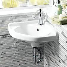 wall mount sink faucet. Wall Mounted Sink Installation Corner Bathroom Installed Click For More Images Faucet Mount N