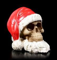 Totenkopf Weihnachtsmann Mit Bart Klein