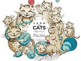 N jeff jus all fine n dandy??? Yarn Cats Graphic By Ramandu Creative Fabrica Graphic Illustration Illustration Design Cat Clipart