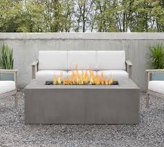 30 rectangular propane fire pit table