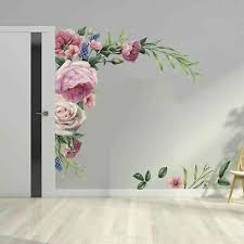large peony rose flower art wall decal