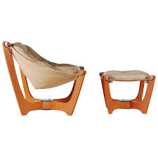 scandinavian leather furniture. scandinavian leather sling lounge chair and ottoman 1 furniture