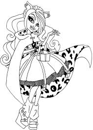 Small Picture Beautiful Clawdeen Wolf Coloring Page Monster High Pinterest