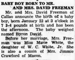 Byron Freeman birth - Newspapers.com