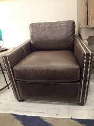 smoke leather club chair