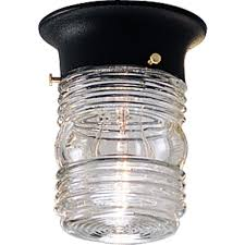 Progress Lighting P5603 31 Traditional One Light Close To Ceiling From Utility Lantern Collection In Black Finish 4 7 8 Inch Diameter X 6 1 4 Inch