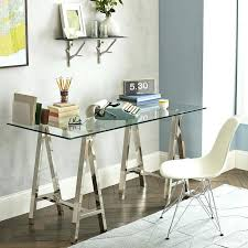 trestle office desk. Trestle Desk View In Gallery Metal And Glass From West Elm Office . U