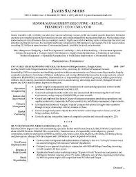Resume Objective For Retail Fresh Retail Executive Resume Example