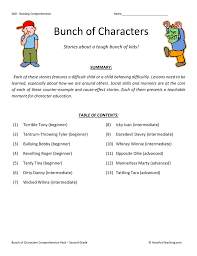 Bunch of Characters - Reading Comprehension Test Collection