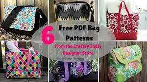 Free Bag Patterns Extraordinary 48 Free PDF Bag Patterns From The Craftsy Indie Designer Store Easy