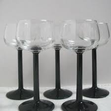 wine glasses with black stems wine glasses with black stems best luminarc wine glasses set