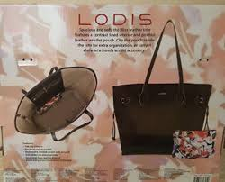lodis bliss leather tote bag with wristlet black new