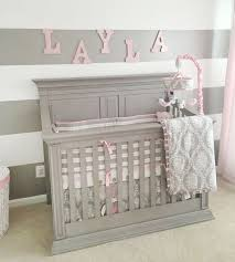 pink and grey baby bedding olivia