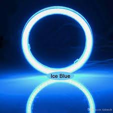 12v Blue Light 2019 Waterproof Led Fog Light Ice Blue Halo Angel Eyes Rings Cob Xenon White Blue 12v Suv Atv Off Road Fog Headlight Lamp From Tidotech 5 46