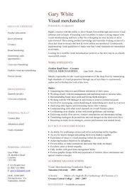 Visual Merchandising Resume Sample 3 Merchandiser Samples