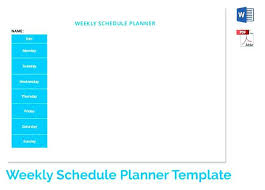 Elementary Teacher Daily Schedule Template. Teacher Weekly Schedule ...