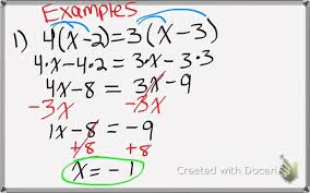 Multi Step Equations (Types of Solutions) - Welcome to Mrs ...