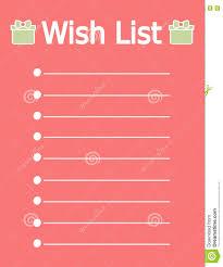 Cute Lists Cute Printable Christmas Wish List Stock Vector
