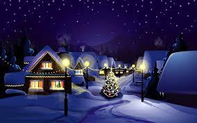 Night Christmas Village Wallpaper Hd ...