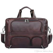 men briefcase full grain genuine leather handbags office bag for men messenger bag leather 17 inch laptop 7289 511186 vip briefcase handbags from
