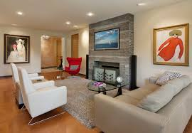 living room with recliners. inspiration for a contemporary living room remodel in santa barbara with recliners i
