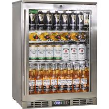 rhino quiet 1 door triple glass door bar fridge model wine shelving image