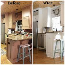before and after of the farmhouse kitchen at refresh restyle