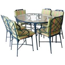 9 Pc Brown Jordan Calcutta Patio Set Dining Table Arm Chairs End