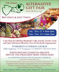 purchasing unique gifts while supporting local national and international charities at the 17th annual alternative gift fair to be held the weekend