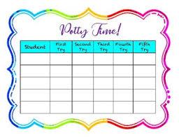 Potty Training Chart Positive Reward Potty Training Chart