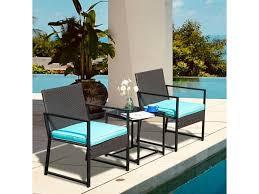 elecwish 3 pieces patio furniture sets