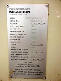 cincinnati milacron wiring diagram wiring diagram library used cincinnati milacron water cooled chiller mused cincinnati milacron water cooled chiller model rc