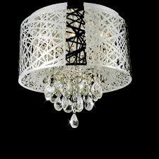 lighting mesmerizing flush mount chandelier 0 0000860 16 web modern laser cut drum shade crystal round