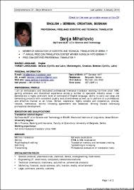 Gallery Of Resume Format For 1 Year Experienced It Professionals