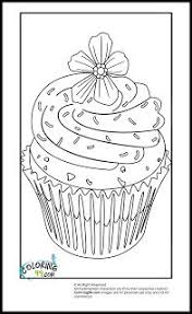 Small Picture Cute Cupcake Coloring Page Cookie Pinterest Coloring books