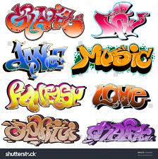 Graphitti Designs Graffiti Urban Art Vector Design Stock Vector Royalty Free