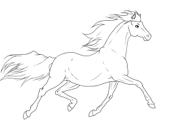 trotting horse drawing. Modren Trotting Trotting Horse Lineart By BloodyLys  Throughout Drawing N