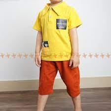 Bình luận Set bé trai áo cổ trụ kèm quần kaki, bộ đồ cộc tay cho bé đi học đi  chơi mùa hè BBT2102